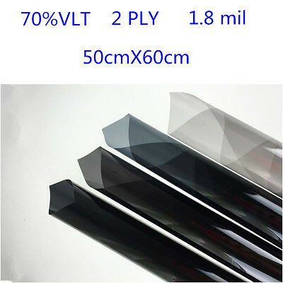 2PLY Car Black Car Home Glass Window Tint Film and shade Roll 50cm*0.6m 70% VLT