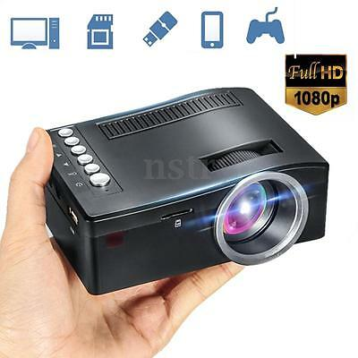 Mini Home Cinema Theater 1080P HD Multimedia Projector TV/ AV/ USB /TF/ HDMI/ PC
