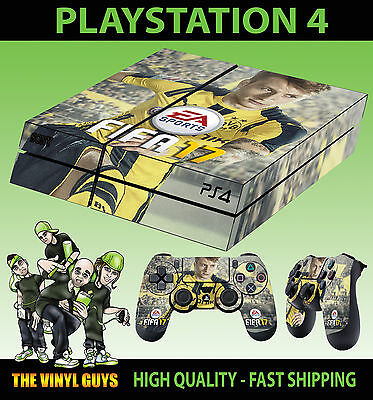 PS4 Sticker Skin FIFA 17 Football Marco Reus + Controller Decals Vinyl LAID FLAT