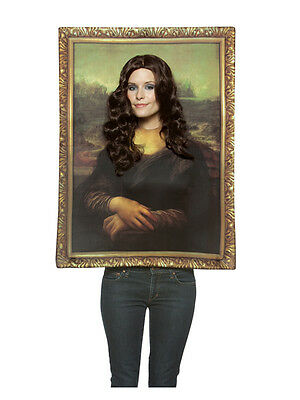 Brand New Mona Lisa Picture Frame Fancy Dress Novelty Funny Costume Adult Unisex