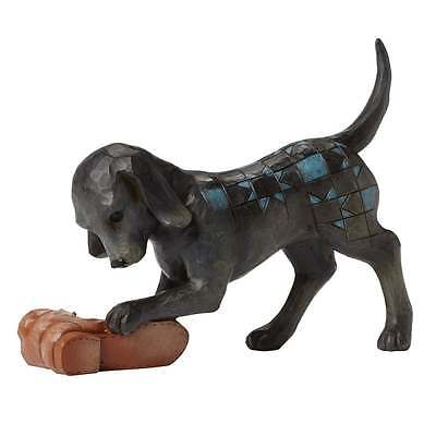 Jim Shore Heartwood Creek Buster Dog With Shoe Figurine New Boxed 4045272