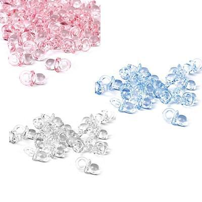 50 BABY SHOWER TABLE DECORATIONS Confetti Girl Pink Boy Blue Mini Pacifiers Gift