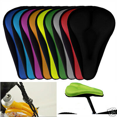 Bike Bicycle MTB Extra Comfort Gel Pad Cushion Cover Saddle Seat Pad For Comfy