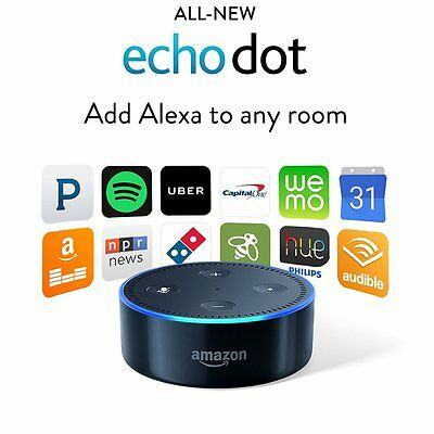 Amazon Echo Dot 2nd Generation w/ Alexa Voice Media Device - All New 2016