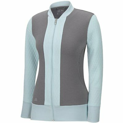 New 2016 Adidas Golf Women's Advance Quilted Bomber Jacket Z97815 Grey