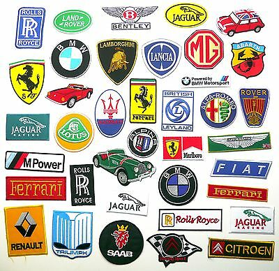 TOP EUROPEAN CAR BRAND PATCHES - Any Marque Patch Only £1.40, UK SELLER! NEW!