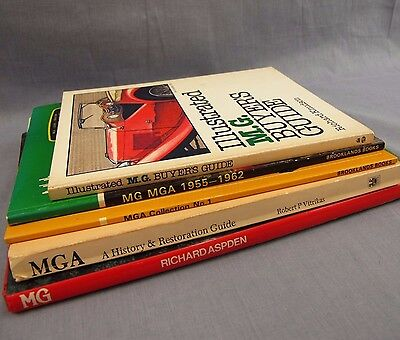 MGA Automobile Books Lot of 5 Car Book Collection MG History Restoration Auto