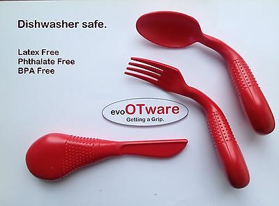 Evo OTWare Utensils - Adaptive Eating Utensils - Set of 3