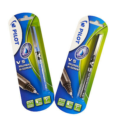 Pilot V 5 Rollerball Hi-Tecpoint Pen Pack of 1 Blue or Black Free Delivery