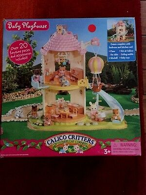 CC2216 Calico Critters Baby Playhouse Windmill FREE SHIP New In Box Tear On Box