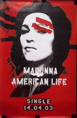 "Madonna,American Life 2003. Orig.Giant Vintage Poster.39x60 "". FREE INTSHIPPING"