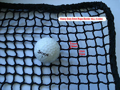Golf Practice Impact Netting 3m x 3m Heavy Duty with ROPE BORDER