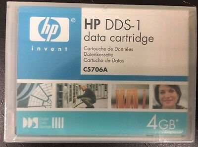 NEW Sealed  Hewlett-Packard C5706A -1PACK DDS1 DAT  4GB