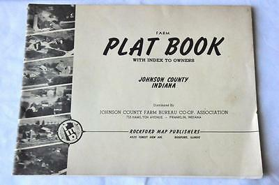 1962 Johnson County, Indiana Farm Plat Book Owner Index Rockford Map Publishers