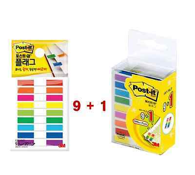 3M Post-it Flag Office 9+1 Pack 683-9KP Bookmark Point Sticky 1800 flags