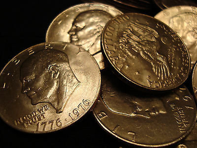 $50 Eisenhower SILVER Dollar Lot 1971-1978 EXTRA FINE TO UNcirculated Ike