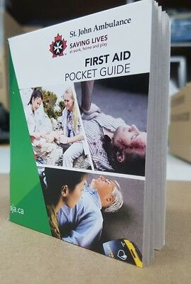 First Aid Book Small Pocket Guide - English/ French for First Aid Kit