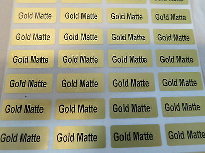 150 Gold Matte Customized Waterproof Name Stickers Labels 0.9 x 2.2 cm Tags