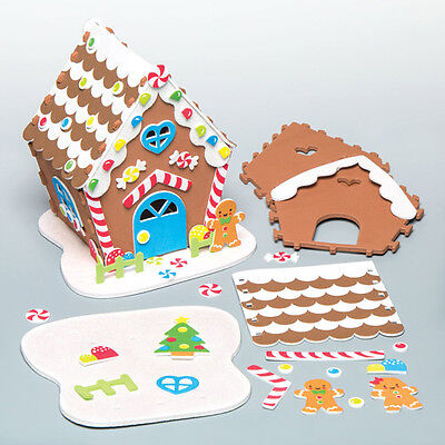 Gingerbread House Kit for Children to Make Assemble Decorate Kids Xmas Craft Toy