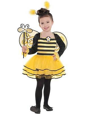 Bumble Bee Ballerina Costume Fancy Dress Outfit 3-6 Years Wings Child Childrens