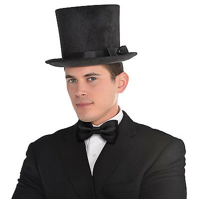 Adult's Deluxe Victorian Black Fancy Dress Party Costume Accessory Top Hat