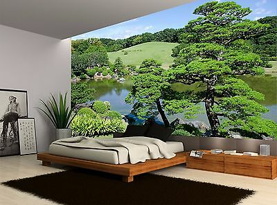 Trees Japanese Garden Nature Water Wall Mural Photo Wallpaper GIANT WALL DECOR