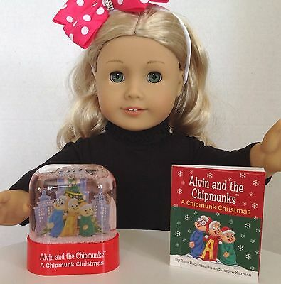 "Mini Book for American Girl Doll 18"" Accessories Alvin & The Chipmunks Christmas"