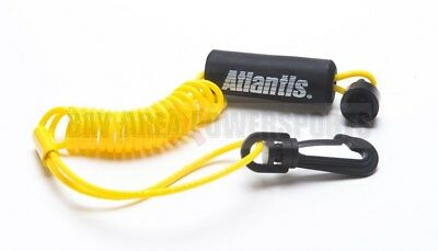 New Sea Doo Safety Kill Switch Tether Floating Lanyard Key Yellow 278001431