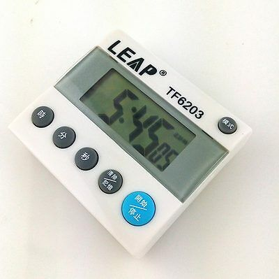 White LCD Digital Count Up Down kitchen Fitness Training Boxing Yoga Timer C6203