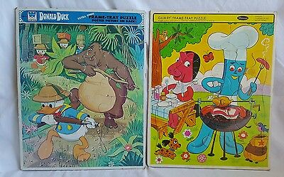 Gumby,Donald duck tray frame puzzles
