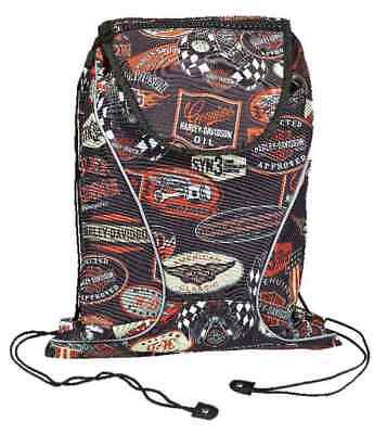 Harley-Davidson Vintage Collection Sling Backpack, Lightweight, Black 99667-VIN