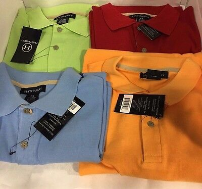NEW Men's Hathaway Ribbed Short Sleeve Relaxed Fit Polo - M,L,XL