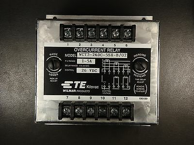 7-1618403-0 Tyco Overcurrent Protection Relay 26V 1-5A WCT3-26DC-5SX-B/02 NOS