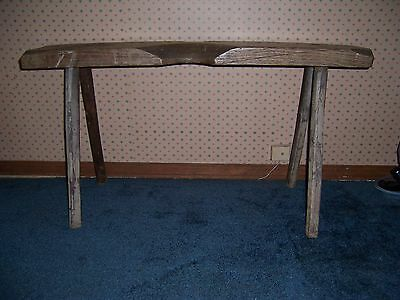 Antique Early Wooden Cobbler's Bench Cobbler Stool Great Primitive Decor