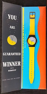"""Promotional Watch """"Time to Buy a Renault"""" Advertising Campaign Mailshot"""
