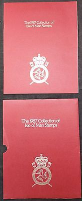 The 1987 Collection of Isle of Man Stamps in Slipcase, Complete MNH Inc M/S