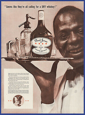 Vintage 1937 PAUL JONES Whiskey Alcohol Restaurant Bar Art Decor Print Ad 1930's