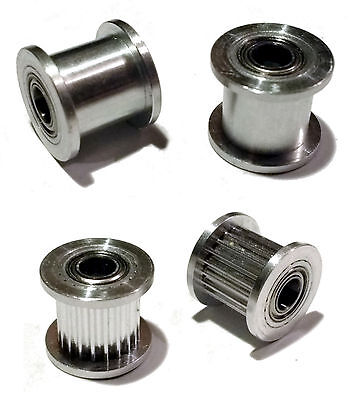 3D Printer GT2 Idler Pulley, Toothed and Smooth - 5mm Bore for 10mm wide belt