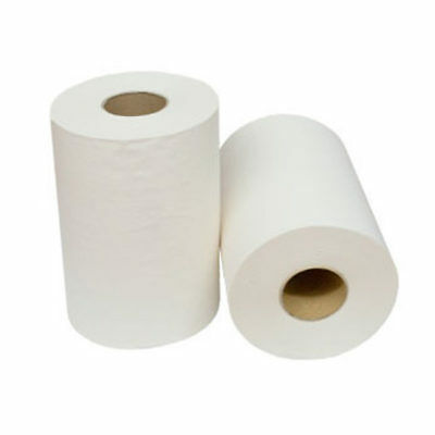 White Hand Roll Towel Paper 1PLY 80M Industrial Roll / Kitchen Roll 16Roll/Ctn