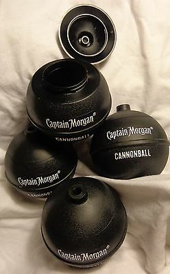 Set of 4 Captain Morgan Rum - Cannonball Drink Cups...Plastic..Very Cool....NEW