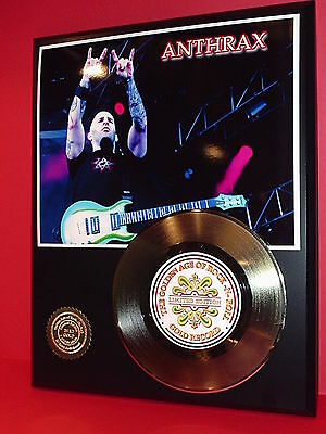Anthrax Rock N Roll  Limited Edition Gold Record Display