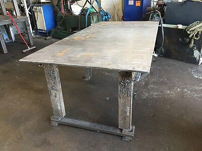 """Steel Fabricated Table 8ft 2.5 """" x 4ft 1"""""""