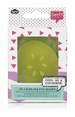 Beauty Junky Reusable Cool As A Cucumber Cooling Eye Mask Freezer (2 Eye Pads)