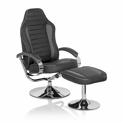 Loungechair Fussstütze Schalensitz Sportstuhl Sessel Racing Gti Gamer Pro Wh 100