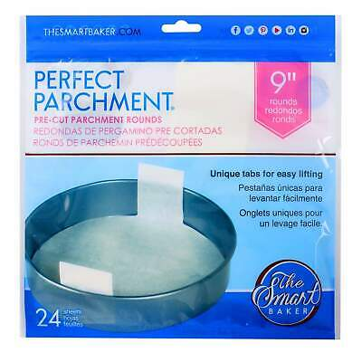 9in Cake Pan Pre-Cut Parchment-ROUND-24 pack