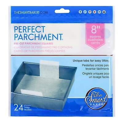 8in Cake Pan Pre-Cut Parchment-SQUARE-24 pack