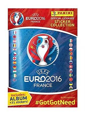 Panini UEFA Euro 2016 France sticker collection starter pack Album + 31 stickers