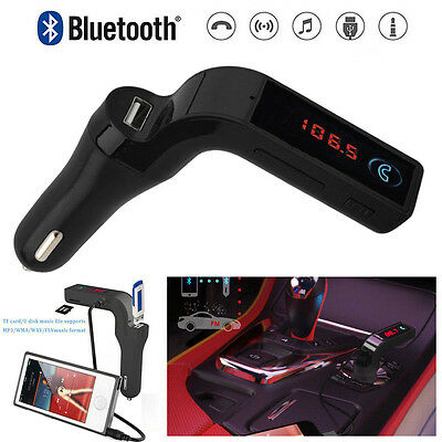 Wireless LCD Bluetooth Car Handsfree Kit MP3 FM Transmitter AUX USB Charger UK