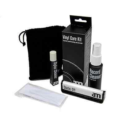 AM Vinyl Record Care Cleaning Kit - Fluid, Brush, Cloth Etc. NEW