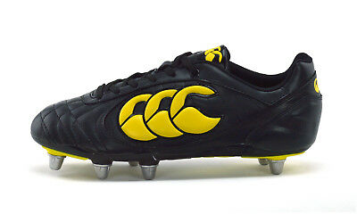 Canterbury Stampede Ii Club 8 Stud - Mens Rugby Boots - E22249 989 - Black - New